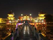 La primavera e Autumn Pagodas a Kaohsiung Fotografia Stock