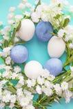 La primavera eggs il fondo di struttura Fotografia Stock Libera da Diritti
