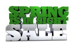 La primavera está en venta y la promoción de la vista Foto de archivo