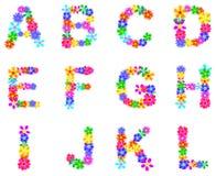 La primavera fiorisce l'alfabeto Immagini Stock Libere da Diritti
