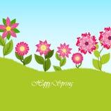 La primavera fiorisce l'illustrazione di vettore Fotografia Stock Libera da Diritti