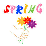 La primavera florece al florista Season And Florals de los medios Imagen de archivo libre de regalías