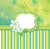 La primavera florece el fondo y tiras. Templ del diseño Imagen de archivo libre de regalías