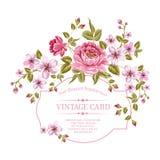 La primavera florece el ramo para la tarjeta del vintage. Foto de archivo libre de regalías