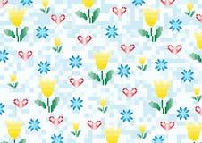 La primavera florece los pixeles Imagenes de archivo