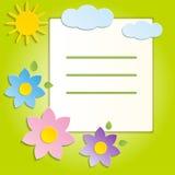 La primavera hermosa florece el fondo verde - vector Foto de archivo libre de regalías