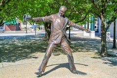 La primera echada Jimmy Griffin Statue Foto de archivo libre de regalías