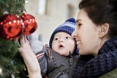 La primera Navidad Imágenes de archivo libres de regalías