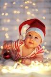 La primera Navidad Fotos de archivo