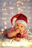 La primera Navidad Foto de archivo libre de regalías