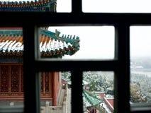 La primera nieve en palacio de verano Imágenes de archivo libres de regalías
