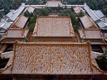 La primera nieve en palacio de verano Fotografía de archivo libre de regalías