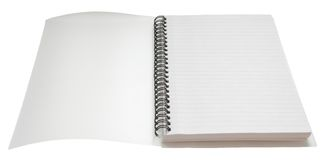 La primera paginación con el recortes Foto de archivo libre de regalías