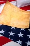 La primera paginación de los E.E.U.U. Bill o las derechas encendido foto de archivo libre de regalías