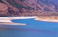 La primera vuelta del río Yangzi, China Imagen de archivo libre de regalías