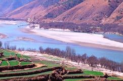 La primera vuelta del río Yangzi, China Fotografía de archivo libre de regalías