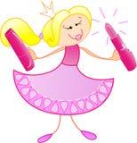 La princesa buena stock de ilustración