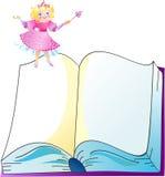 La princesa con el libro stock de ilustración