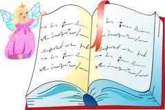 La princesa con el libro ilustración del vector
