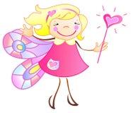 La princesa es una mariposa ilustración del vector