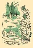 La princesa y la rana Imágenes de archivo libres de regalías