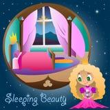 La princesse dans sa chambre Images libres de droits