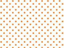 La priorità bassa bianca di vettore Eps8 con la Polka arancione fa Fotografia Stock