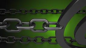 La priorità bassa chain 3d del metallo rende Immagine Stock Libera da Diritti