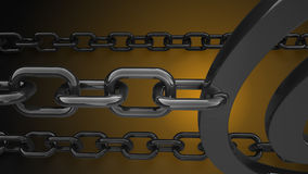 La priorità bassa chain 3d del metallo rende Immagine Stock