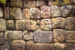 la priorità bassa colora la parete di pietra del grunge Fotografie Stock