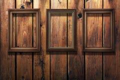 la priorità bassa incornicia l'annata della foto di legno Fotografia Stock