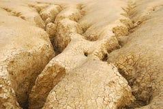 La prise de masse aride/a fissuré le cordon Photographie stock libre de droits