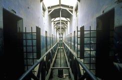 La prisión vieja convirtió al museo en las montañas rurales de los Andes, Tierra del Fuego National Park, Ushuaia, la Argentina Foto de archivo libre de regalías