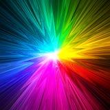 La prisma abstracta de la estrella colorea el fondo stock de ilustración