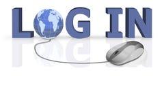 La procédure de connexion de procédure de connexion ouvrent votre site Web sur WWW Photo libre de droits