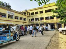 La procédure s'exerçante du personnel de vote pour Lok Sabha Election 2019 ou élection 2019 de l'Assemblée générale a été tenue p photographie stock libre de droits