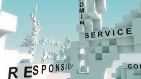 La production de site Web exprime animé avec des cubes illustration stock