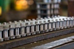 La production des chaînes Le circuit dans le proce de fabrication Photos stock