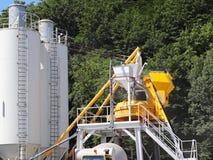 La production du béton Technologie manufacturière des mélanges de bâtiment Construction des structures des structures en béton photo stock