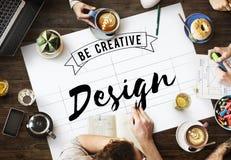 La progettazione è Art Graphic Concept creativo Immagini Stock