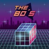 La progettazione degli anni 80 Immagini Stock