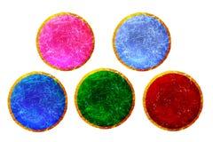 La progettazione dei bottoni di colore Le icone messe Immagine Stock
