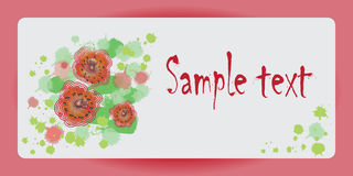 La progettazione del manifesto con il color scarlatto dei papaveri Immagine di vettore Immagine Stock Libera da Diritti