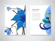 La progettazione di carta dell'invito di nozze con i fiori tropicali, invita vi ringrazia, progettazione di carta moderna del rsv illustrazione vettoriale