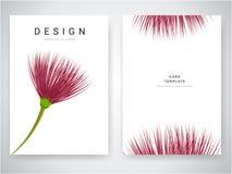 La progettazione di carta dell'invito di nozze con i fiori tropicali, invita vi ringrazia, progettazione di carta moderna del rsv royalty illustrazione gratis