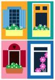 La progettazione di Infographic delle finestre per il deposito, il sito ed altro progettano Archivio di vettore di ENV 10 illustrazione di stock