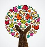 La progettazione di massima prenota l'albero Immagine Stock Libera da Diritti