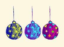 La progettazione di vettore della palla di Natale per invita royalty illustrazione gratis