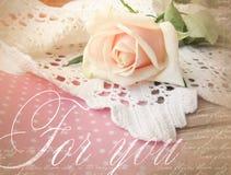 La progettazione elegante della cartolina d'auguri con è aumentato Il bello fondo con è aumentato per le congratulazioni e gli in Fotografia Stock
