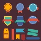 La progettazione piana badges la raccolta Stile moderno Annata, retro piano Fotografia Stock